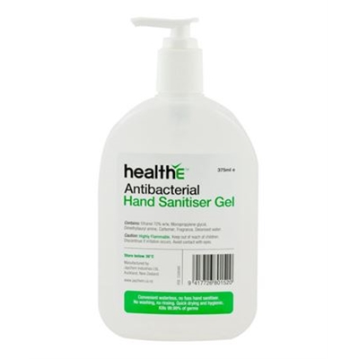 healthE Antibacterial Hand Sanitiser Gel 375ml