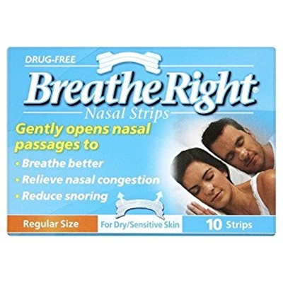 Breath Right Nasal Strips Regular Clear 10