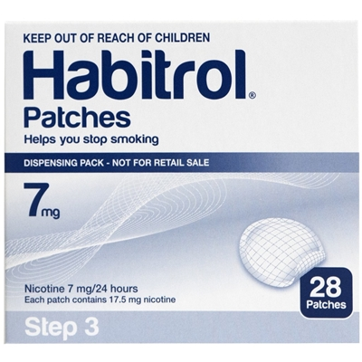 Habitrol Transdermal Nicotine Patch Step 3 7mg 28