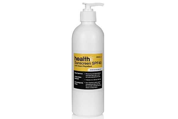 healthE Sunscreen SPF40 with Insect Repellent 500ml
