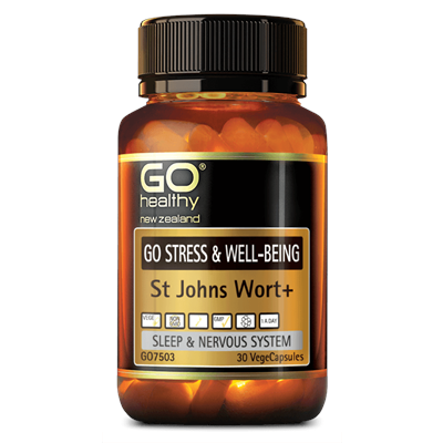 GO Healthy GO Stress & Wellbeing St Johns Wart+ 30 VCaps