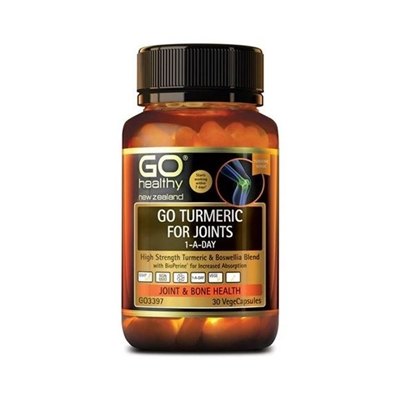 GO Healthy GO Turmeric for Joints 1-A-Day 30 VCaps