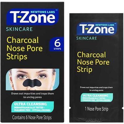 T Zone Charcoal Nose Pore Strips 6