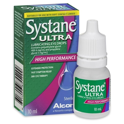 Systane Ultra Lubricating Eye Drops High Performance 10ml