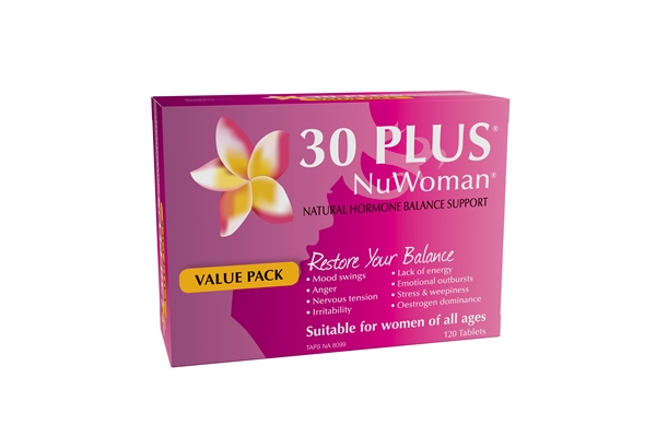 30 PLUS NuWoman Natural Hormone Balance Support 120 Tabs