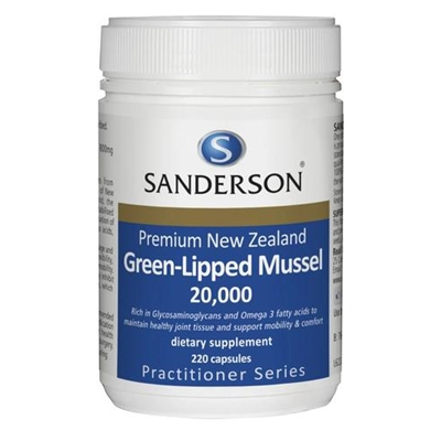 Sanderson New Zealand Green-Lipped Mussel 20,000 220 Caps
