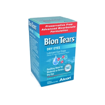 Bion Tears Dry Eyes Lubricant Eye Drops 28 Single Use Containers (0.4ml)
