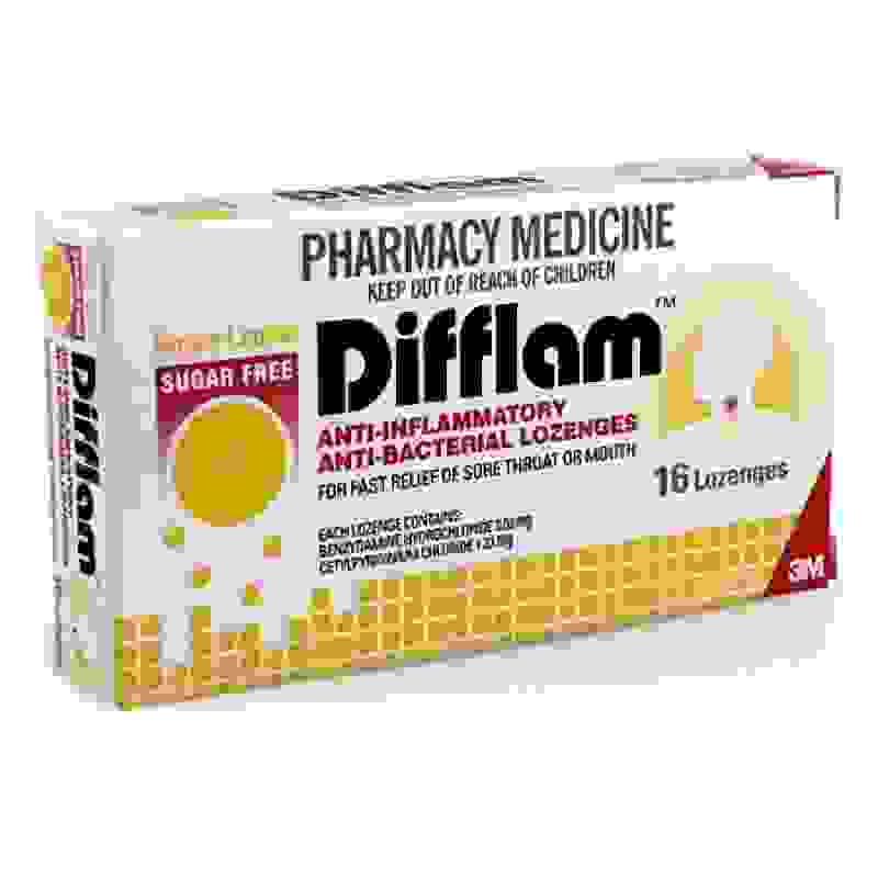 Difflam Anti-Inflammatory Anti-Bacterial Honey & Lemon Lozenges 16