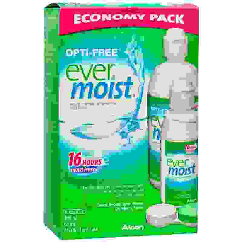Alcon Opti-Free Pure Moist Economy Pack 300ml & 90ml & Alcon Lens Case