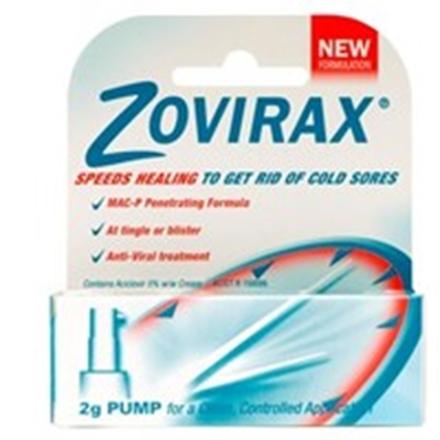 Zovirax Cold Sore Cream 2g Pump