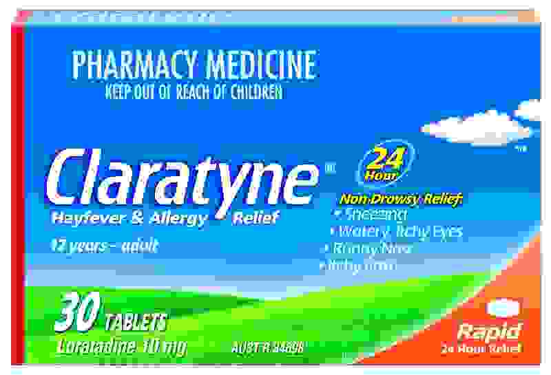 Claratyne 10mg Hayfever & Allergy Relief 30 Tabs