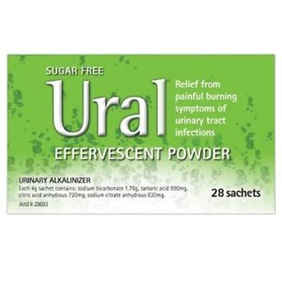 Ural Effervescent Powder 28 Sachets