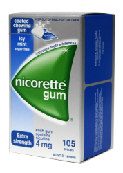 Nicorette Gum 4mg Icy Mint 105 x6 packs