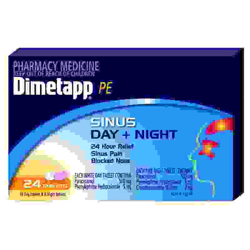 Dimetapp PE Sinus Night & Day 24 Tabs