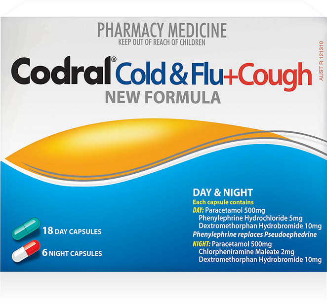 Codral PE Cold & Flu + Cough Day & Night 24 Tabs