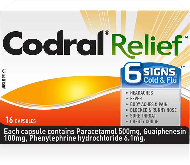 Codral Relief 6 Signs Cold & Flu 16 Caps