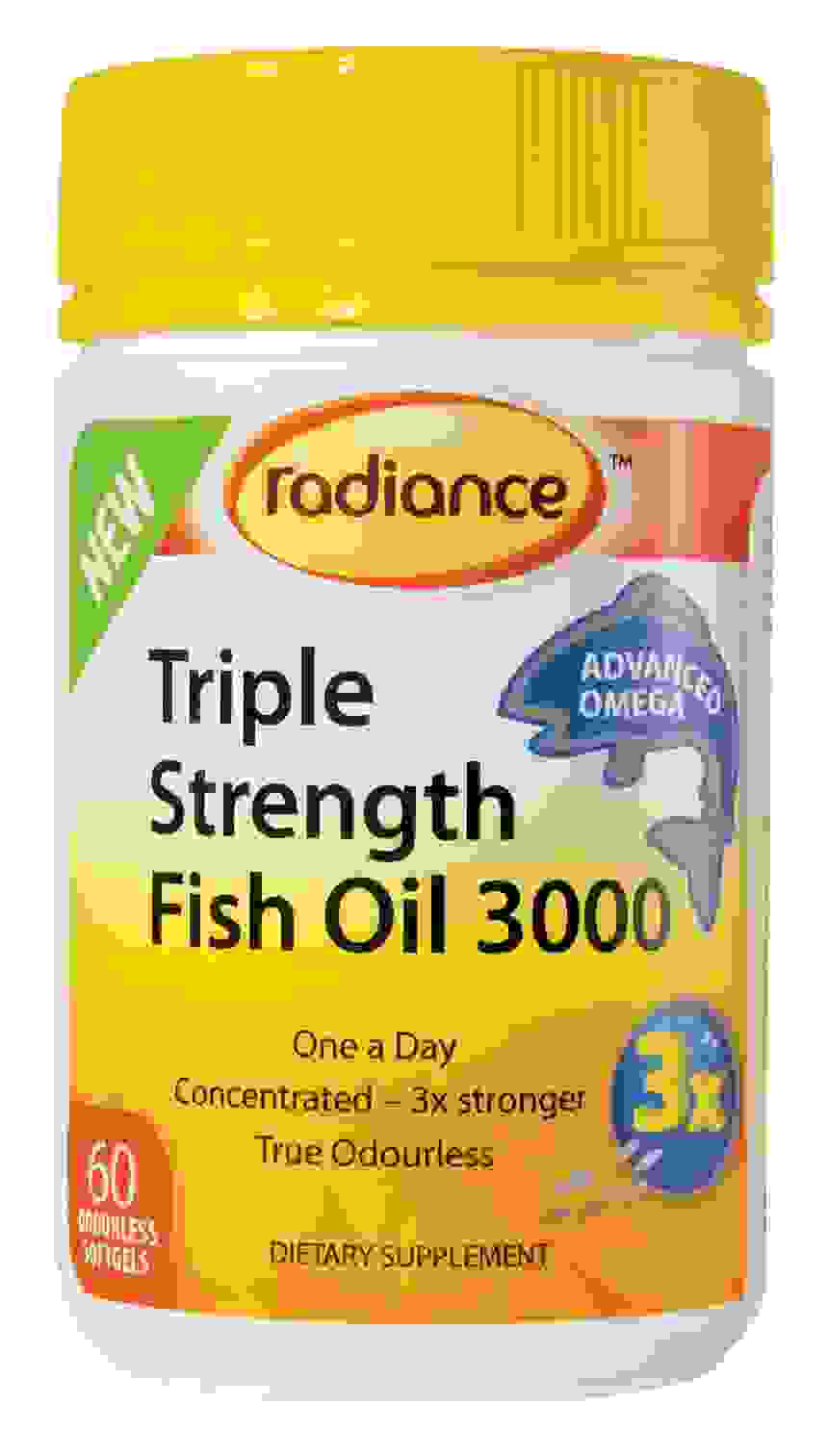 Radiance Triple Strength Fish Oil 3000 60 Caps